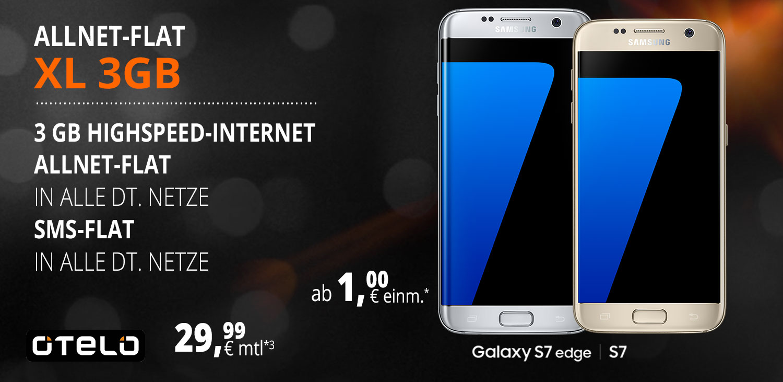 Otelo Aktion - Otelo Allnet Flat XL + Samsung Galaxy S7