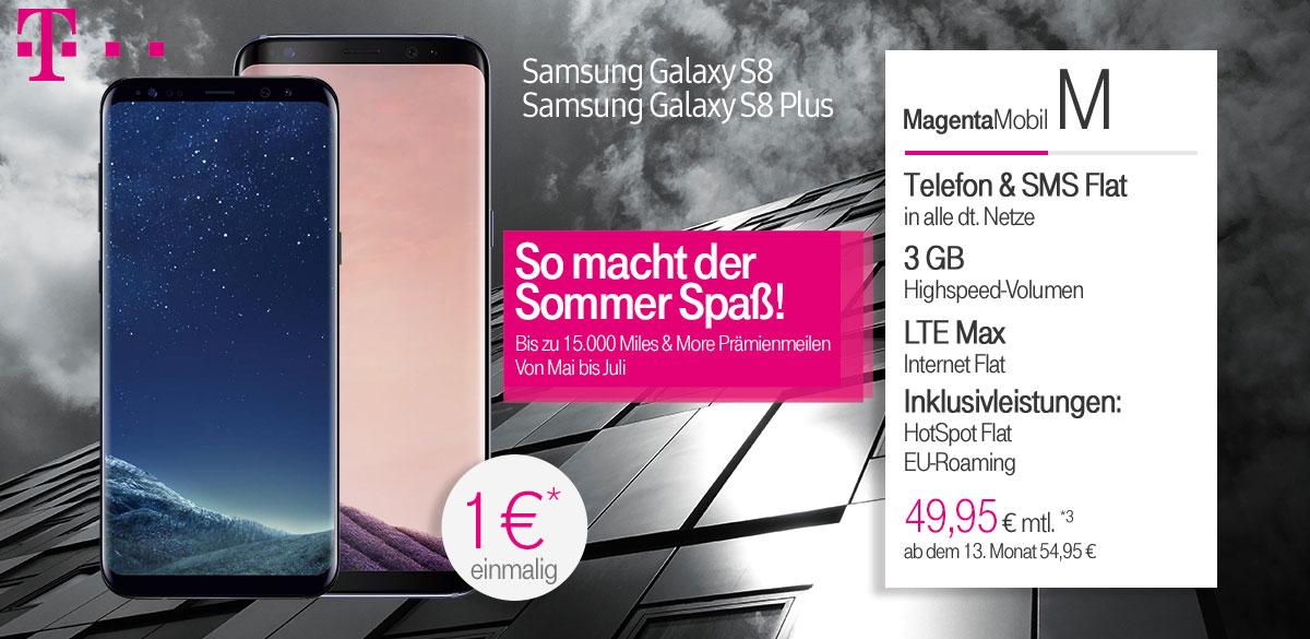 Telekom Aktion Magenta Mobil M + Samsung Galaxy S8