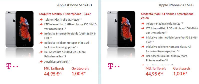 apple iphone 6s mit telekom magenta mobil s vertrag. Black Bedroom Furniture Sets. Home Design Ideas