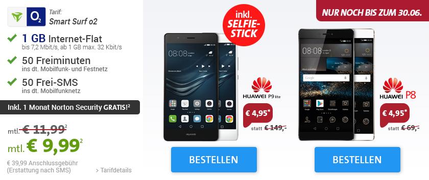 Huawei P8 O2 Smart Surf Vertrag Handyeins De