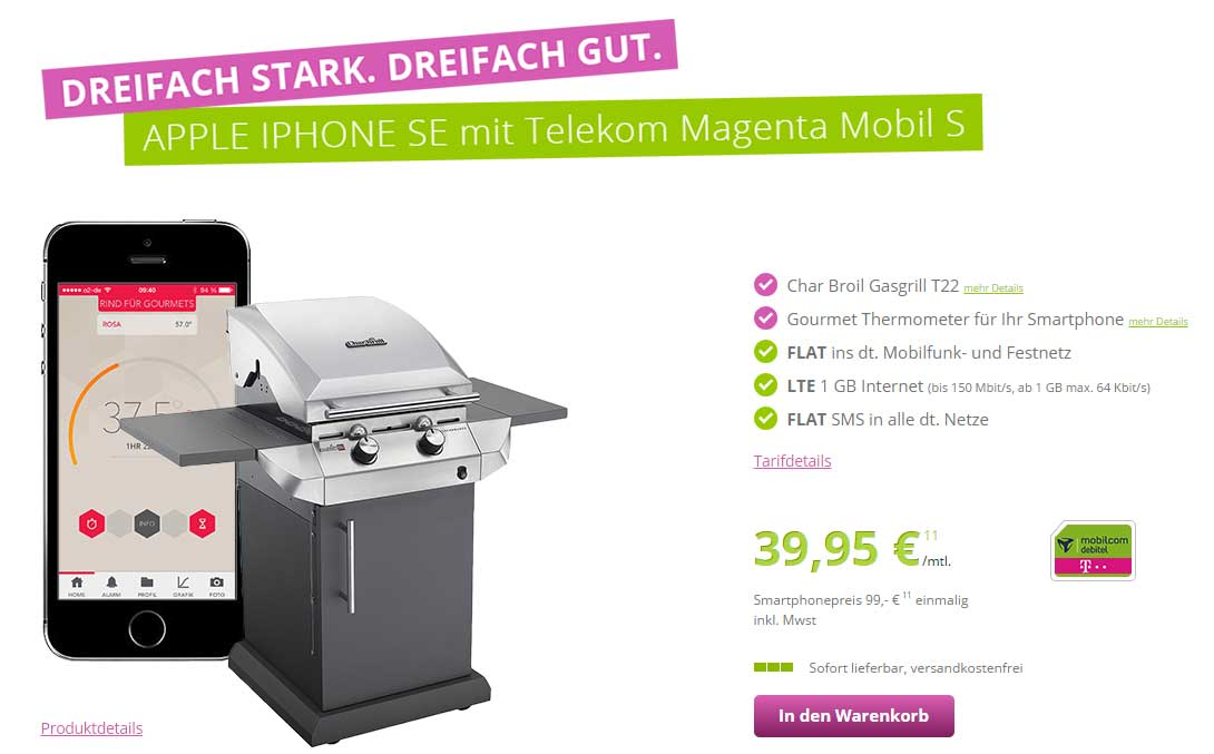 iphone se mit telekom vertrag g nstig kaufen gas grill. Black Bedroom Furniture Sets. Home Design Ideas